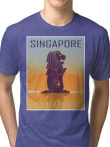 Singapore vintage poster Tri-blend T-Shirt