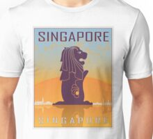 Singapore vintage poster Unisex T-Shirt