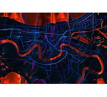 Dark map of New Orleans Photographic Print