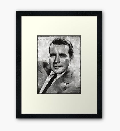 John Forsyth Hollywood Actor Framed Print