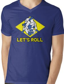 Brazilian jiu-jitsu (BJJ) Let's roll Mens V-Neck T-Shirt