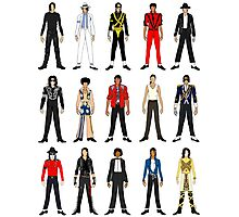 Outfits of King Jackson Pop Music Fashion Photographic Print