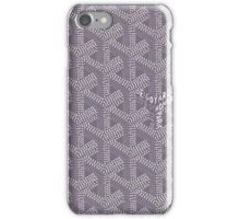 Goyard case grey iPhone Case/Skin