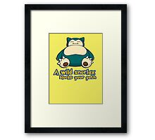 A wild snorlax is blocking your path! Framed Print