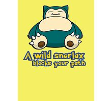 A wild snorlax is blocking your path! Photographic Print