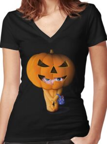 Halloween cute Women's Fitted V-Neck T-Shirt
