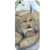"""LINUS""  Canadian Lynx, First Snow iPhone Case/Skin"