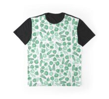 Eat Your Greens - Kawaii Vegan Food Design Graphic T-Shirt