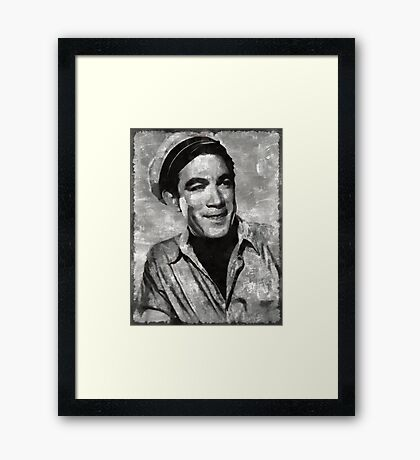 Anthony Quinn Hollywood Actor Framed Print