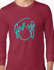 Scott Pilgrim VS the World - Have you seen a girl with hair like this...Ramona Flowers BLUE Long Sleeve T-Shirt