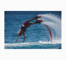 Flyboarder in red about to hit water Baby Tee