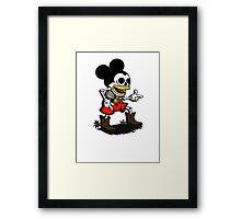 Skeleton mickey zombie mouse Framed Print