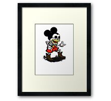 Skeleton mickey zombie mouse Framed Print