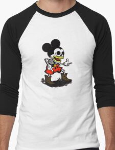 Skeleton mickey zombie mouse Men's Baseball ¾ T-Shirt
