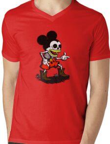 Skeleton mickey zombie mouse Mens V-Neck T-Shirt