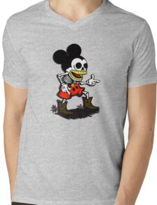 Skeleton mickey zombie mouse Mens V-Neck T-Shirt