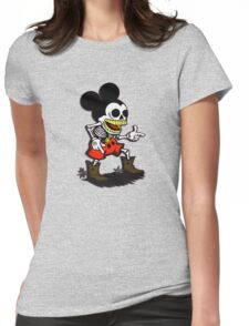 Skeleton mickey zombie mouse Womens Fitted T-Shirt