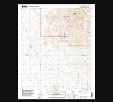 USGS TOPO Map Arizona AZ Greasewood Mountain 311568 1996 24000 Unisex T-Shirt