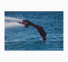 Flyboarder in red diving headfirst into sea One Piece - Short Sleeve