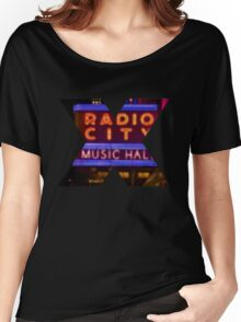 "Pixels Print ""RADIO CITY MUSIC HALL"" Women's Relaxed Fit T-Shirt"