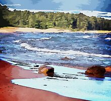 Lake Superior Bay by Phil Perkins