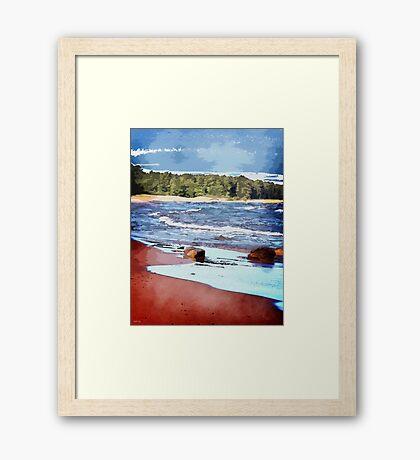 Lake Superior Bay Framed Print