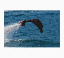 Flyboarder in silhouette diving headfirst into water One Piece - Long Sleeve