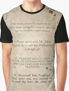 Moony Wormtail Padfoot and Prongs Graphic T-Shirt