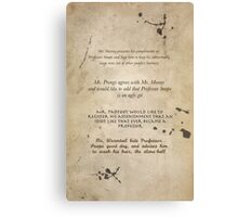 Moony Wormtail Padfoot and Prongs Canvas Print