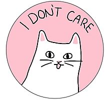I Don't Care - Cynical Cat Photographic Print