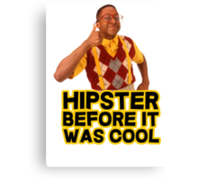 Steve Urkel - Hipster before it was cool Canvas Print