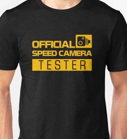 OFFICIAL SPEED CAMERA TESTER (1) Unisex T-Shirt