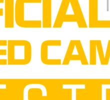 OFFICIAL SPEED CAMERA TESTER (1) Sticker
