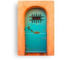 Vintage blue door Canvas Print