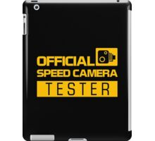 OFFICIAL SPEED CAMERA TESTER (1) iPad Case/Skin