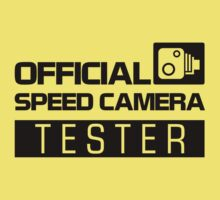 OFFICIAL SPEED CAMERA TESTER (2) Kids Clothes