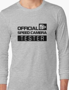 OFFICIAL SPEED CAMERA TESTER (2) Long Sleeve T-Shirt