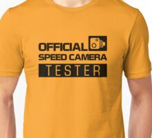 OFFICIAL SPEED CAMERA TESTER (2) Unisex T-Shirt