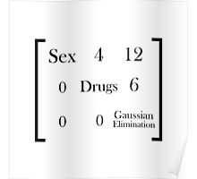 Sex, Drugs, and Gaussian Elimination Poster