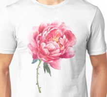 Watercolor peony Unisex T-Shirt
