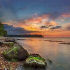 Fishbourne Beach Sunset by manateevoyager