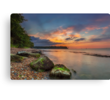 Fishbourne Beach Sunset Canvas Print