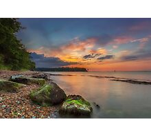 Fishbourne Beach Sunset Photographic Print