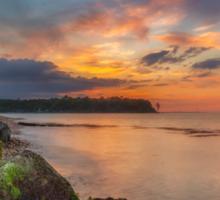 Fishbourne Beach Sunset Sticker