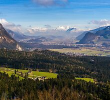 Zillertal Panoramic View by PatiDesigns