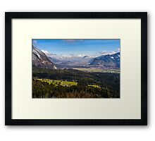Zillertal Panoramic View Framed Print