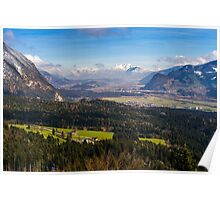 Zillertal Panoramic View Poster