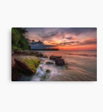 Rocky Beach Sunset Canvas Print
