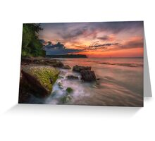Rocky Beach Sunset Greeting Card