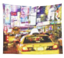 "Pixels Print ""MANHATTAN BY NIGHT"" Wall Tapestry"